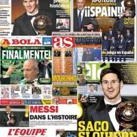 A sajtó Messit ünnepli