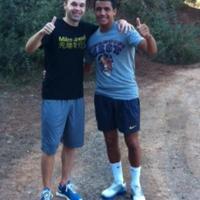 Együtt kocog Iniesta és Sánchez