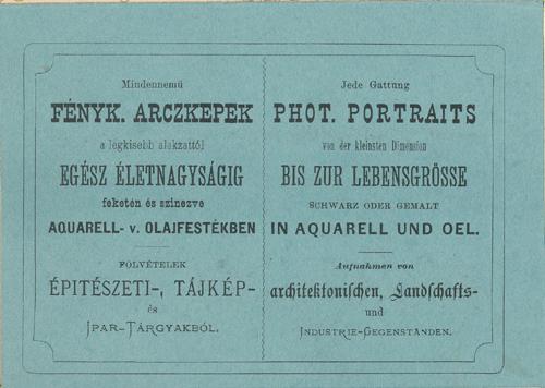 Klösz György hirdetése az 1870-es évekből.jpg