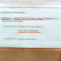 Budapesti anzix – Ibolya már nem lakik (dolgozik) itt