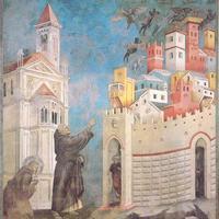 Szent Ferenc megszabadul egy kísértéstől