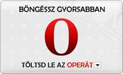 Töltsd le az Operát, a leggyorsabb és legbiztonságosabb böngészőt