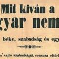 Legyen szabad a sajtó – ez 1848 máig érvényes üzenete