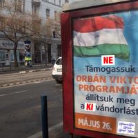 Civilek írják át a kormányplakátokat: NE támogassuk Orbán Viktor programját