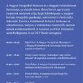 A magyar fotográfia gazdasági, intézményi és kulturális státusza - Konferencia a Mai Manó Házban