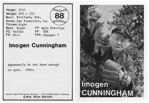 1975-ben készült baseball-kártyák világhírű fotográfusokról