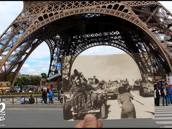 Kép a képben - Párizs ma és 1944-ben