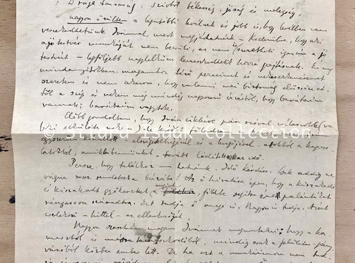 Moholy-Nagy László levele Landau Erzsinek - 1921. december 4.
