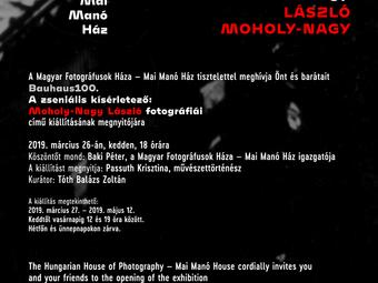 Meghívó - A zseniális kísérletező: Moholy-Nagy László fotográfiái