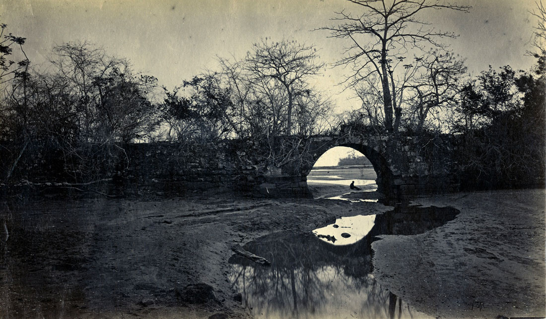 Fotó: Eadweard Muybridge: Bridge on the Porto Bello, Panama, 1875, albumen print © Department of Special Collections, Charles E. Young Research Library, UCLA
