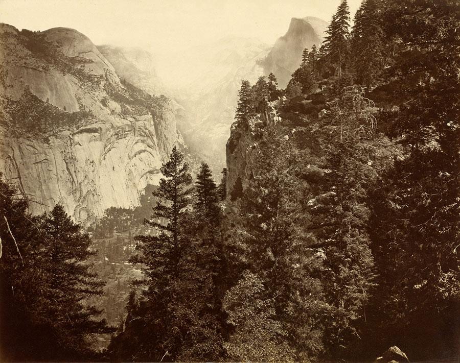 Fotó: Eadweard Muybridge: Tenaya Canyon. Valley of the Yosemite. From Union Point. No. 35<br />1872, albumen print © Collection National Gallery of Art, Washington, DC