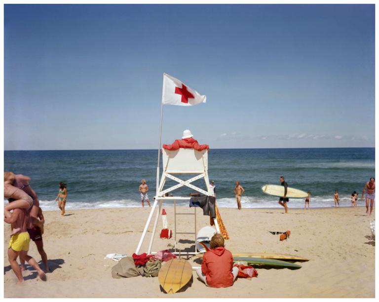 Fotó: Joel Meyerowitz: Ballston Beach, Truro, Cape Cod, 1976 © Joel Meyerowitz