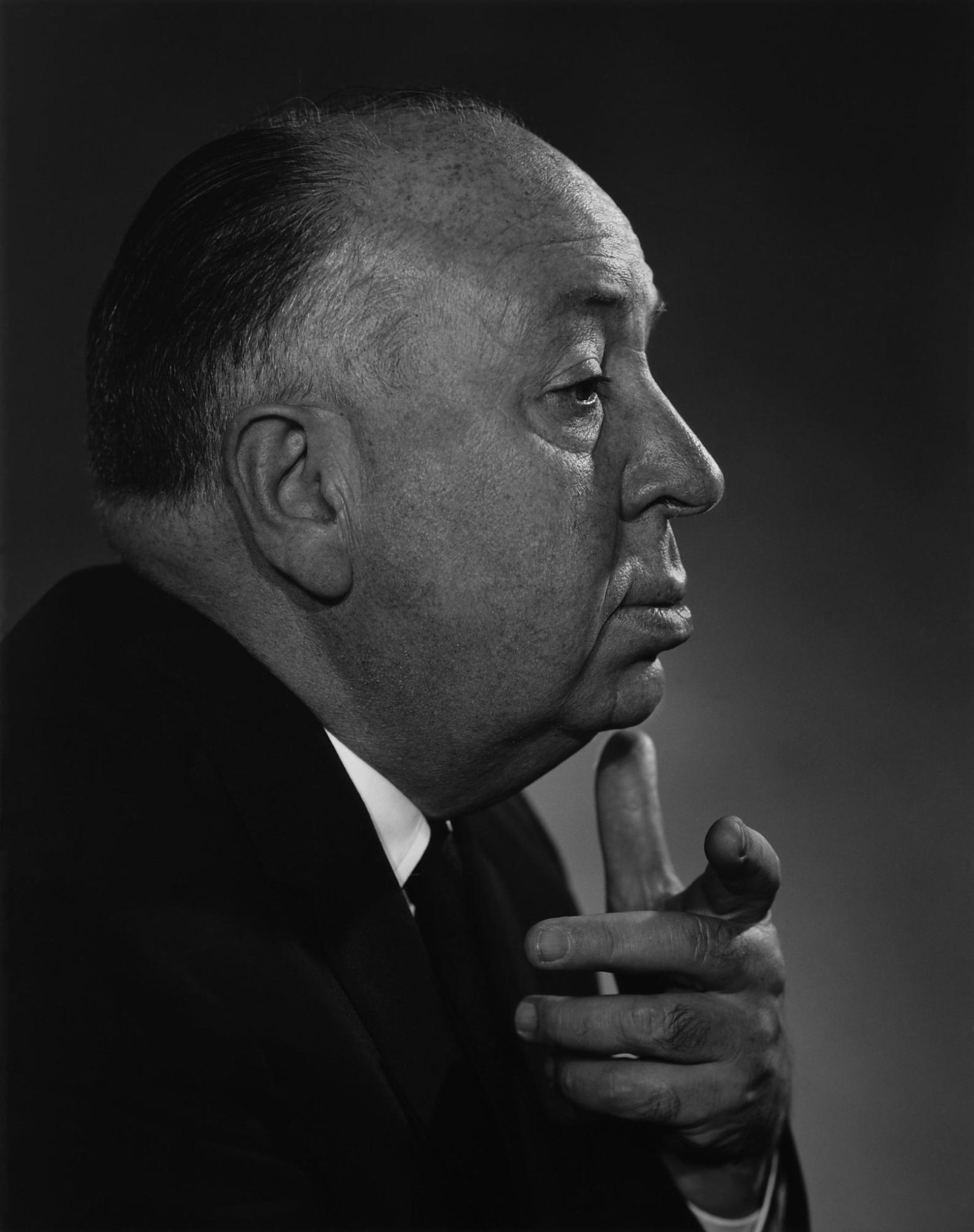 Fotó: Yousuf Karsh: Alfred Hitchcock, 1960 © Yousuf Karsh