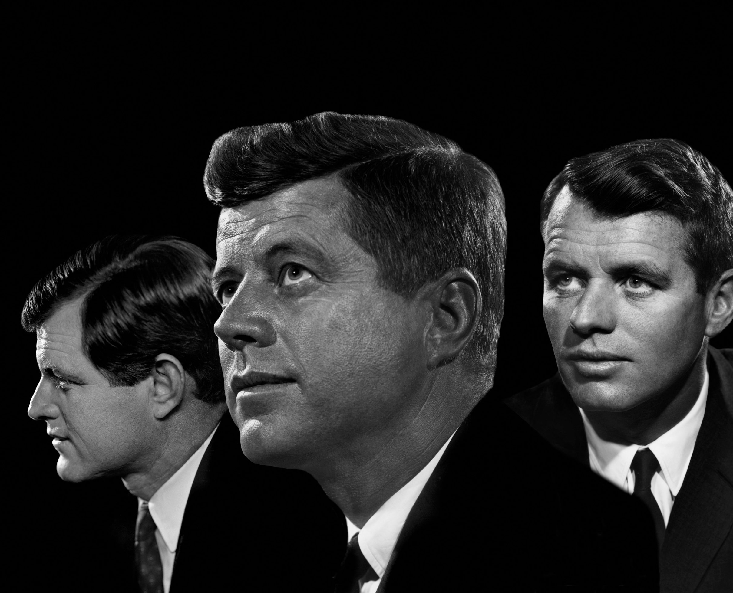 Fotó: Yousuf Karsh: Edward Kennedy, John F. Kennedy and Robert F. Kennedy, 1960 © Yousuf Karsh