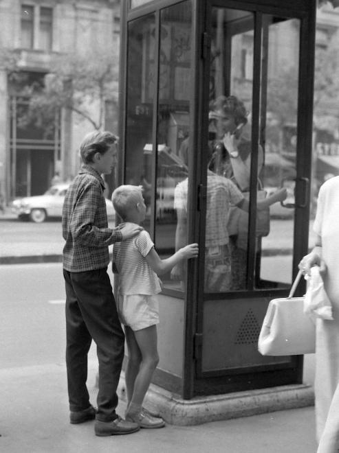 Fotó: Kotnyek Antal: Budapest, Erzsébet (Lenin) körút, szemben a 23. számú épület, 1963 © Kotnyek Antal/Fortepan.hu
