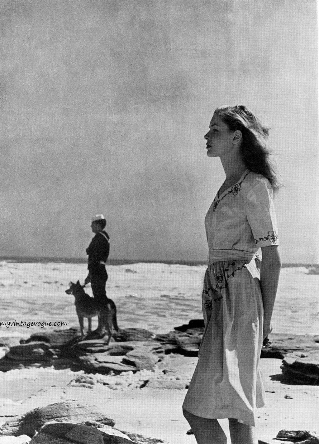 Fotó: Louise Dahl-Wolfe: Lauren Bacall, Harper's Bazaar, May 1943 © Louise Dahl-Wolfe