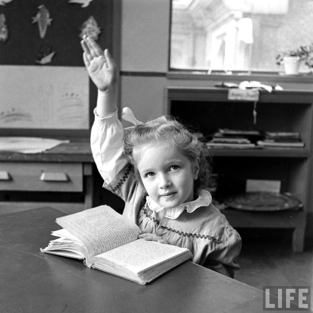 Fotó: Nina Leen: Hunter általános iskola. 1948. január © Nina Leen/Life Magazine