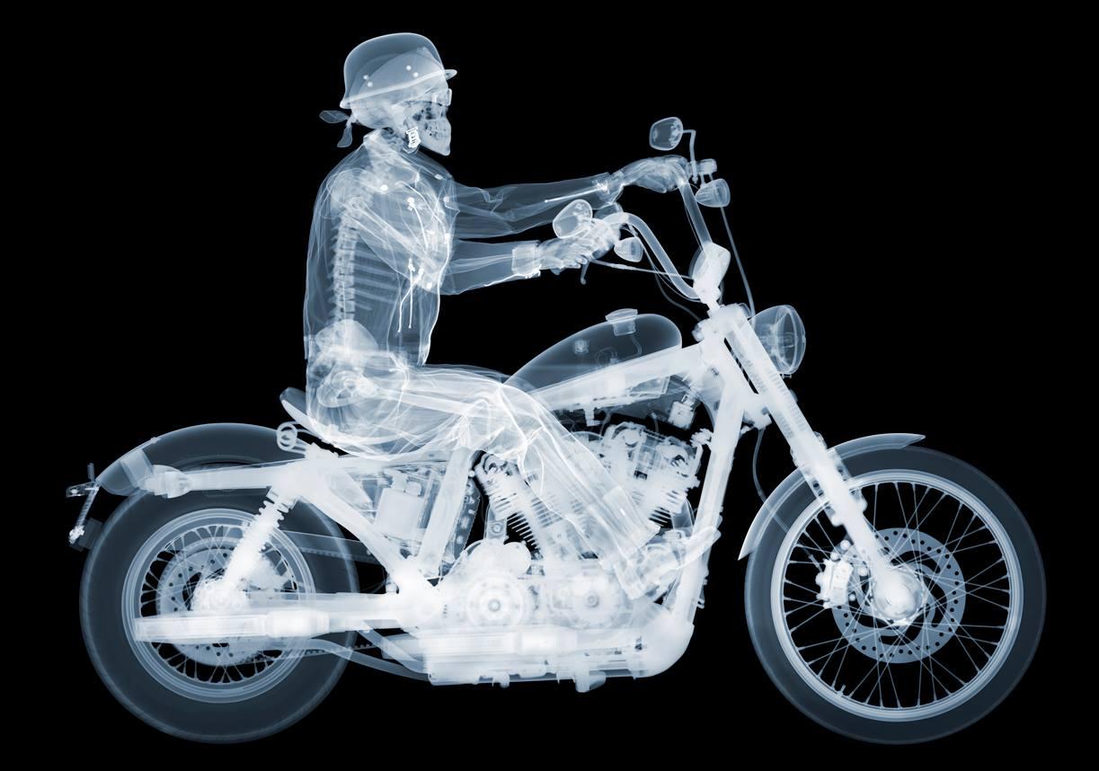 Fotó: Nick Veasey: Harley Davidson 72 Rider, C-Type Print mounted on Plexi, 2014 © Nick Veasey