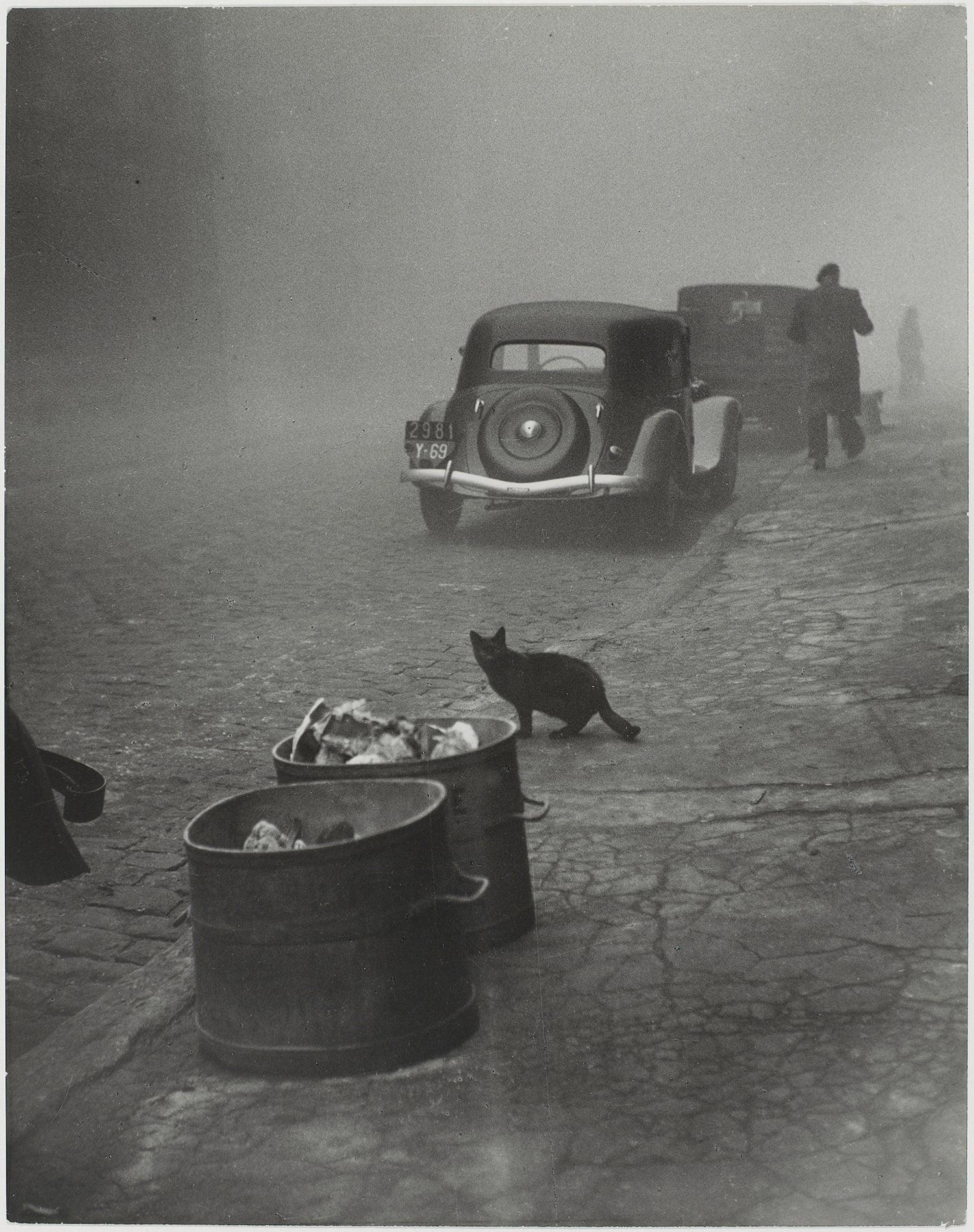Fotó: Sabine Weiss: Petit matin brumeux, Lyon, France, 1950. Photograph: Sabine Weiss/Centre Pompidou, MNAM-CCI/Philippe Migeat/Dist RMN-GP