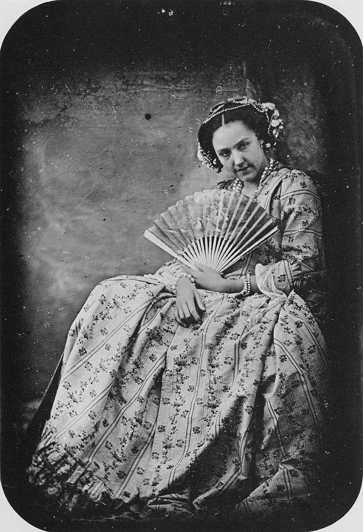 Fotó: Hippolyte Bayard: Nő legyezővel, 1843