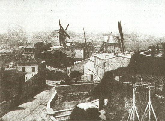 Fotó: Hippolyte Bayard: Montmartre, Párizs, 1842 körül