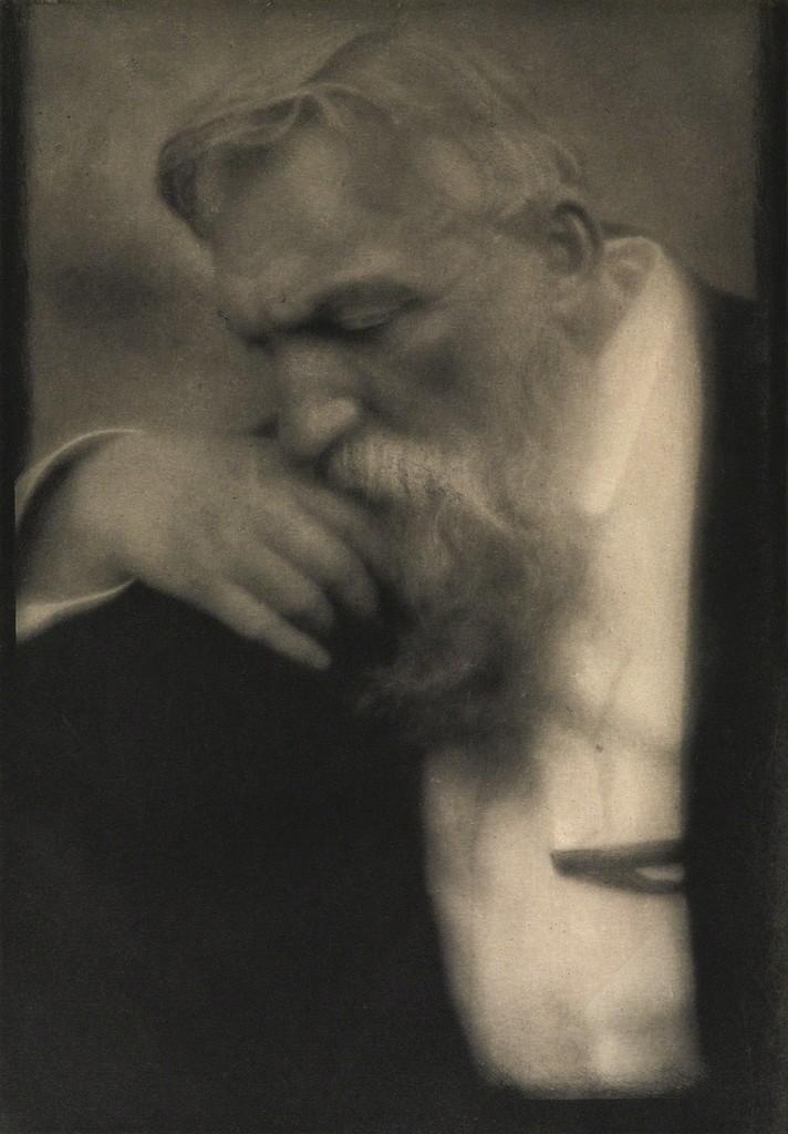Fotó: Edward J. Steichen: M. Auguste Rodin, 1911 (megjelent: Camera Work 34/35.; 1911)