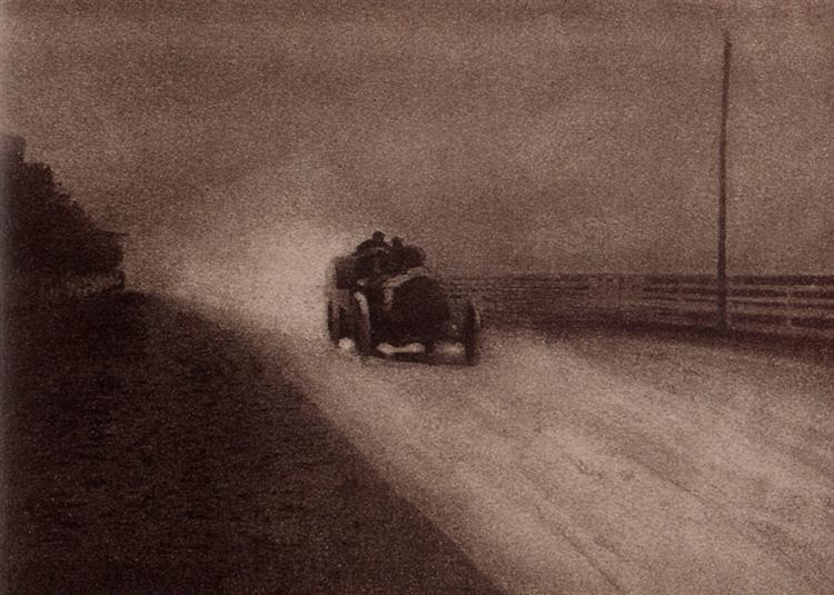 Fotó: Robert Demachy: Speed, 1904 (megjelent: Camera Work 7.; 1904)