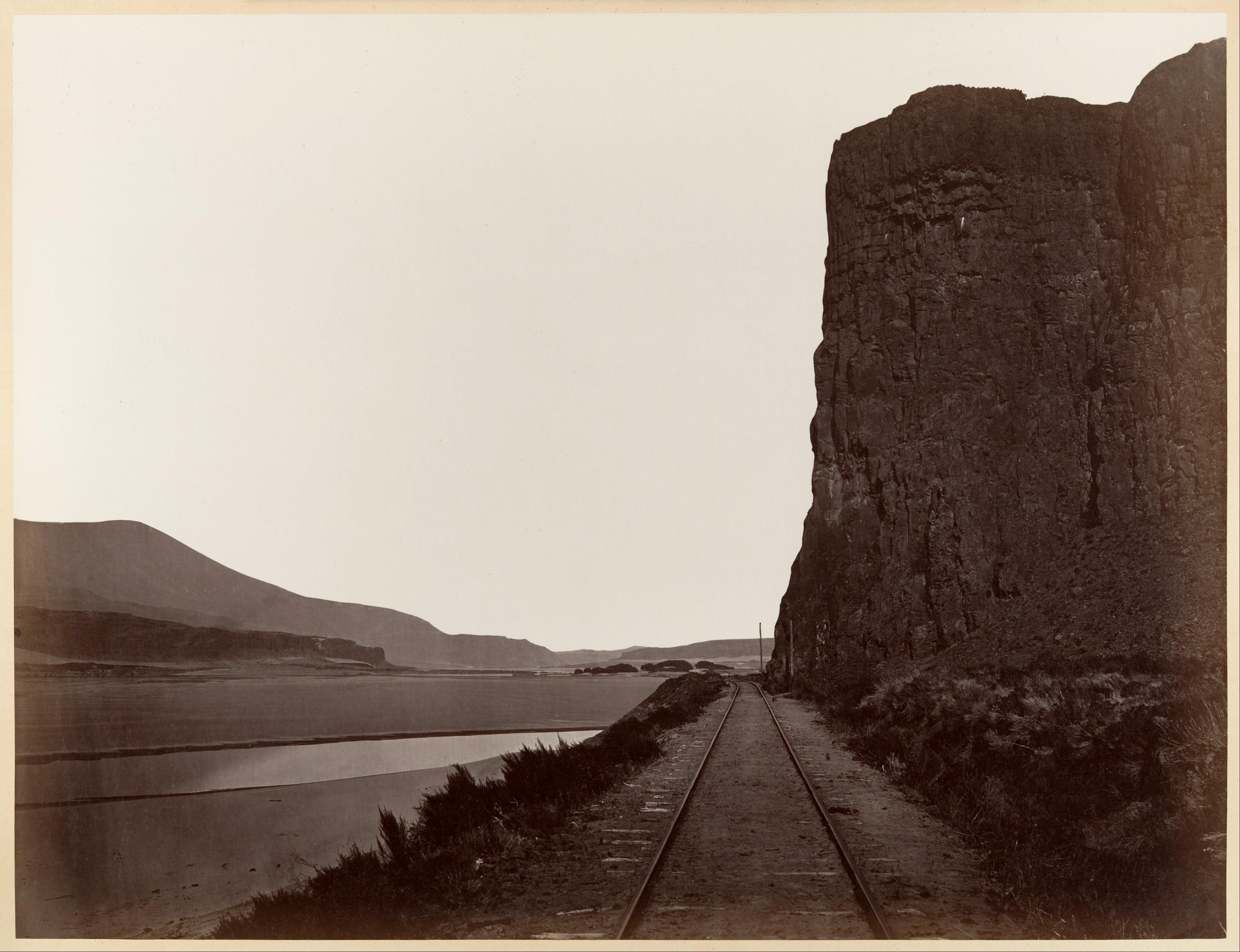 Fotó: Carleton Watkins: Cape Horn near Celilo, 1867 © Carleton Watkins / The Metropolitan Museum of Art
