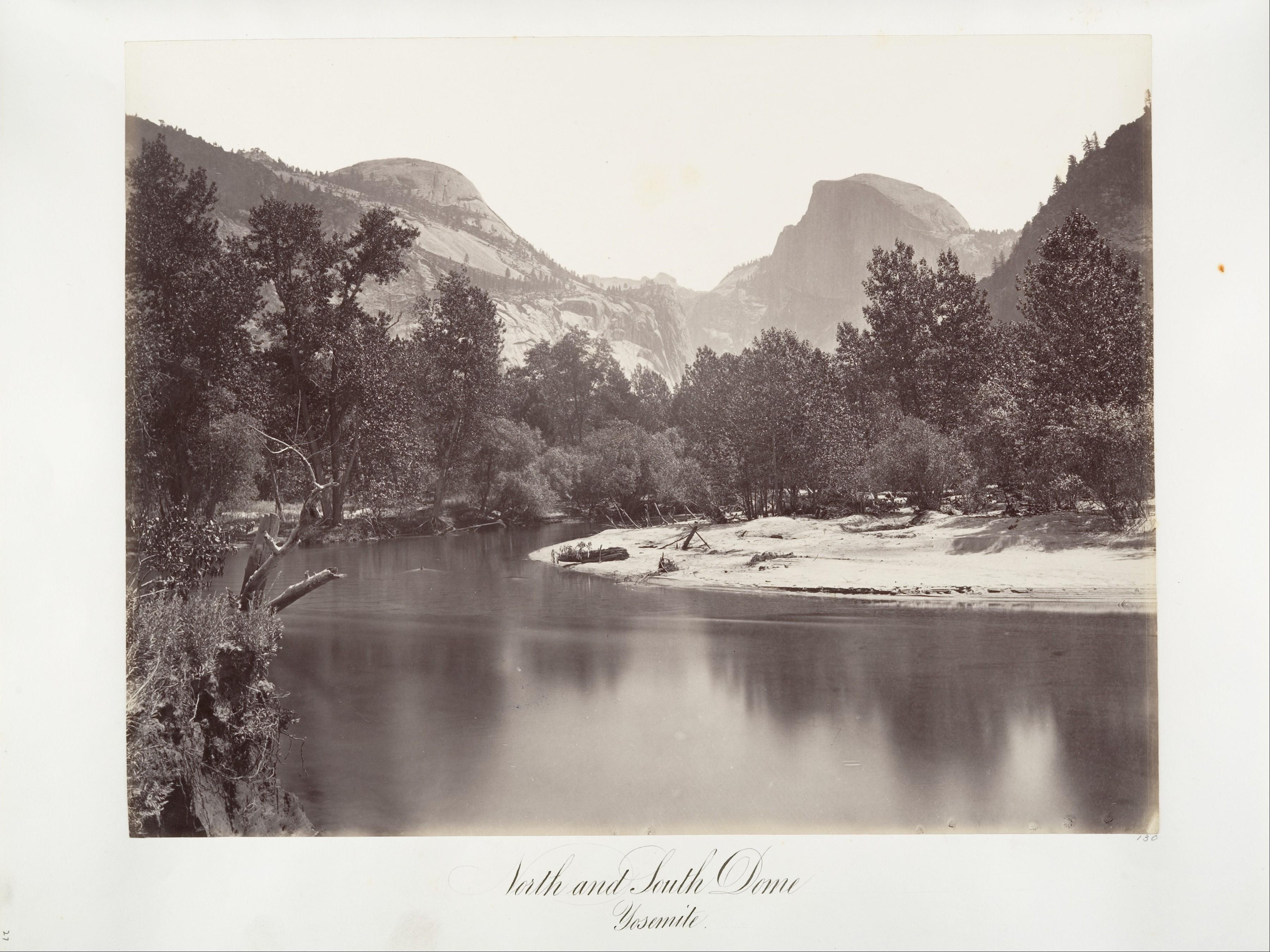 Fotó: Carleton Watkins: North and South Dome, Yosemite, ca. 1872, printed ca. 1876 © Carleton Watkins / The Metropolitan Museum of Art