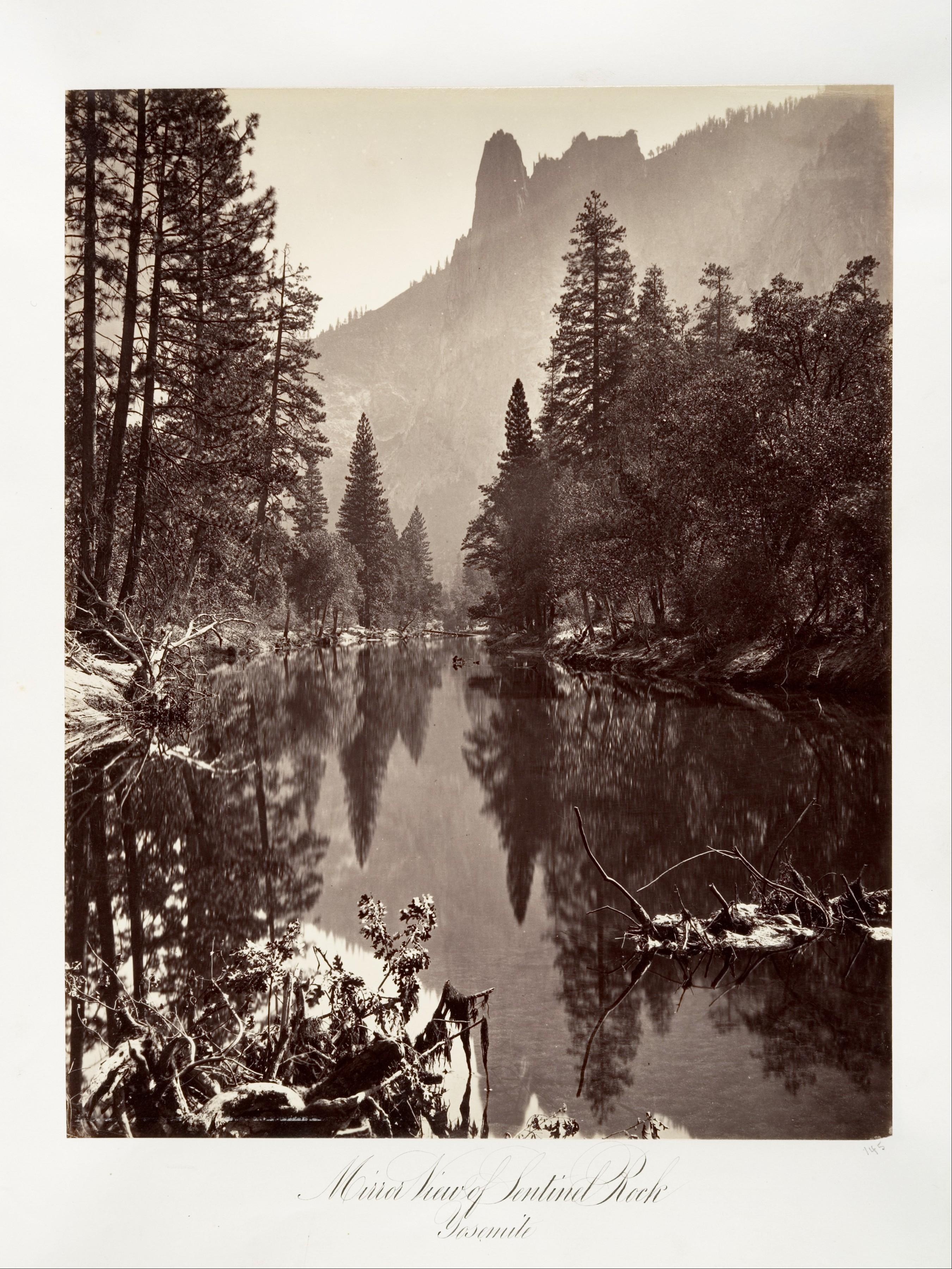 Fotó: Carleton Watkins: Mirror View of Sentinel Rock, Yosemite, ca. 1872, printed ca. 1876 © Carleton Watkins / The Metropolitan Museum of Art