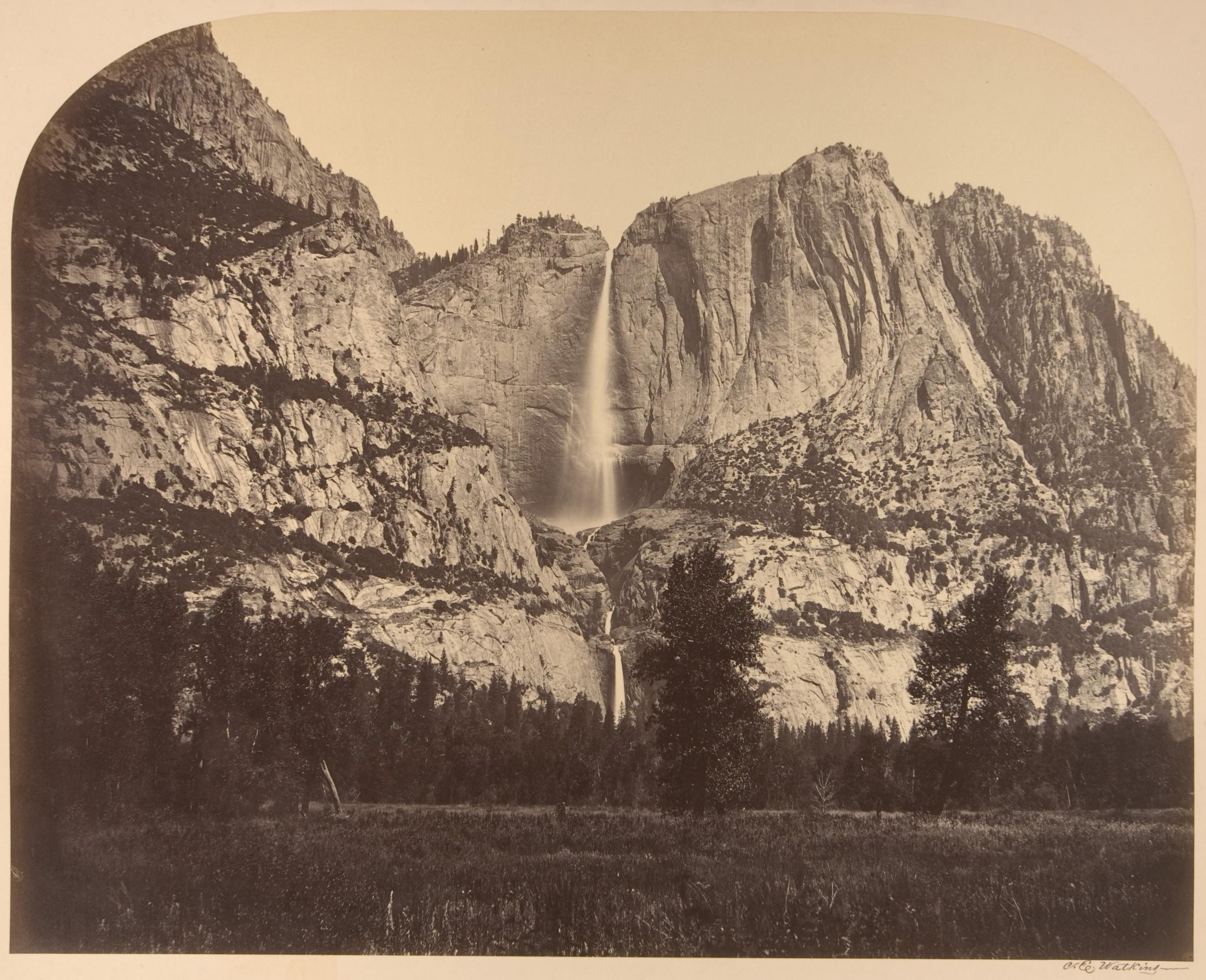 Fotó: Carleton Watkins: 2637 Ft. Yosemite Fall, Front View, 1861 © Carleton Watkins / The Metropolitan Museum of Art