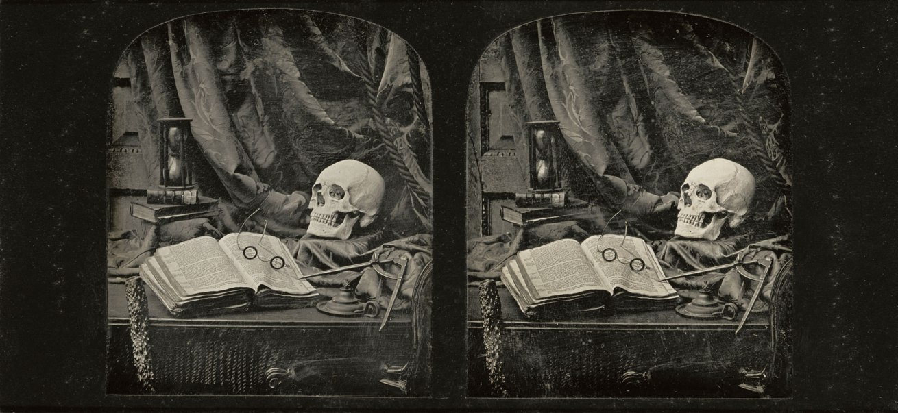 Fotó: Thomas Richard Williams (English, 1825-1871)<br />The Sands of Time<br />1850-1852<br />Stereo-daguerreotype<br />Two 1/6 plates<br />Image (each): 7 x 5.9 cm (2 3/4 x 2 5/16 in.)<br />Object (whole): 8.3 x 17.1 cm (3 1/4 x 6 3/4 in.)<br />The J. Paul Getty Museum, Los Angeles