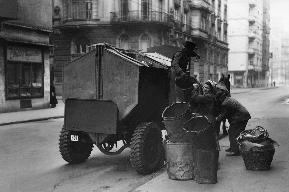 Fotó: Szemeteskocsi, 1950-es évek vége © Budapesti Városépítési Tervező Vállalat