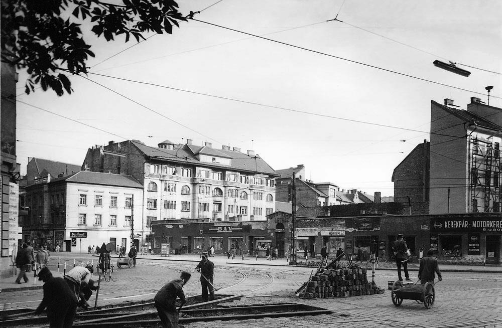 Fotó: A Mártírok útja (Margit körút) a Török utca felől, 1950-es évek vége © Budapesti Városépítési Tervező Vállalat