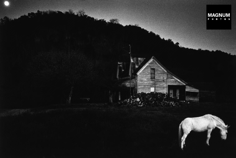 Fotó: Dennis Stock: Mississippi farm scene. 1969. © Dennis Stock/Magnum Photos