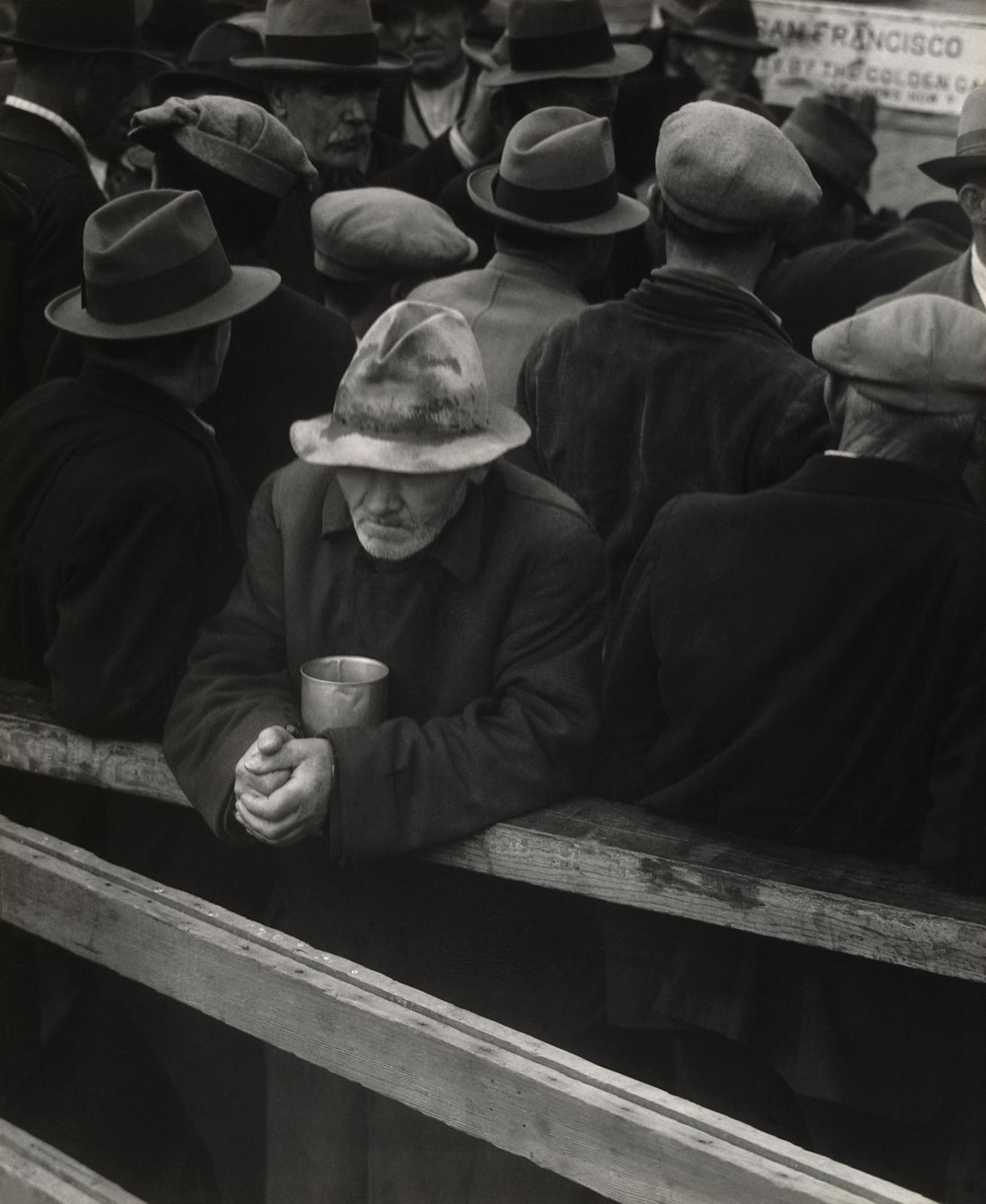 Fotó: Dorothea Lange: A Fehér Angyal kenyérsor, San Francisco, 1933