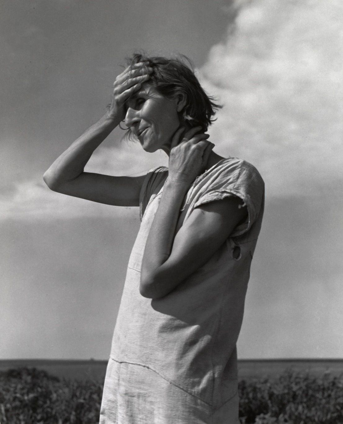 Fotó: Dorothea Lange: Woman of the High Plains, Texas Panhandle, June 1938 © The Dorothea Lange Collection, the Oakland Museum of California<br />Gift of Paul S. Taylor