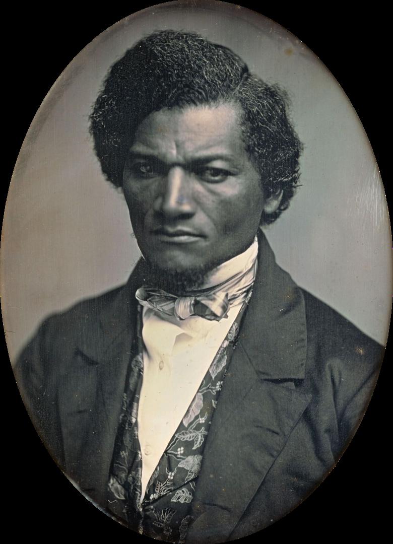 Fotó: Samuel J. Miller: Frederick Douglass, dagerrotípia, 1847-52 (Art Institute of Chicago)