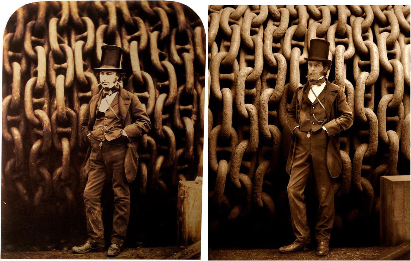 Fotó: Robert Howlett: Isambard Kingdom Brunel, 1857 © National Portrait Gallery / Drew Gardner: Isambard Thomas (harmadik generéciós leszármazott)