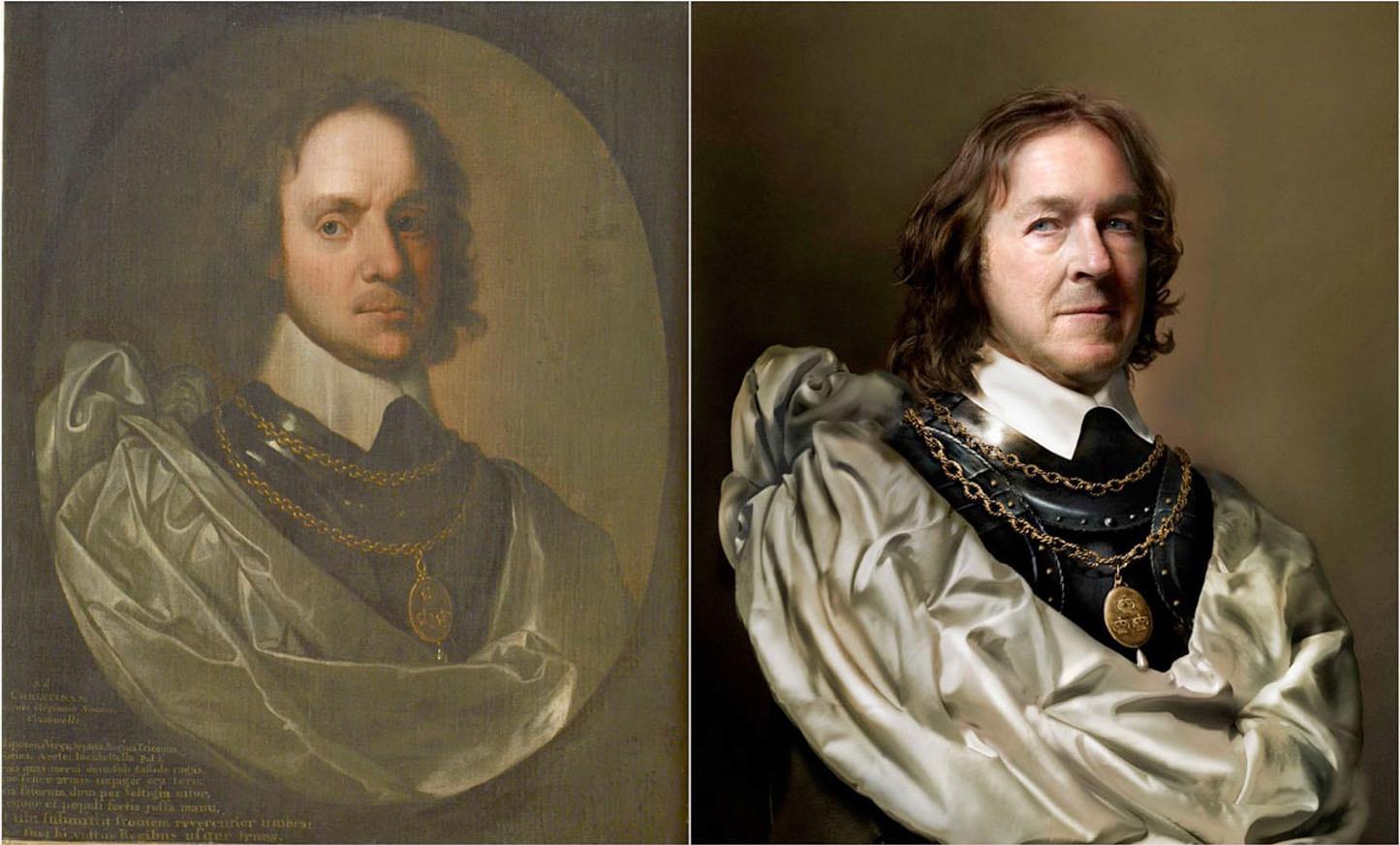 Fotó: Robert Walker: Oliver Cromwell / Drew Gardner: Charles Bush (kilencedik generációs leszármazott)