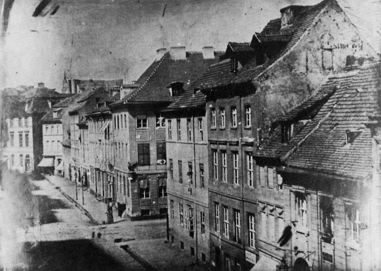 Berlin, 1840<br />Fotó: Friedrich Wilhelm Halffter: Berlin, alte Leipziger Straße (an der Kurstraße), 1840