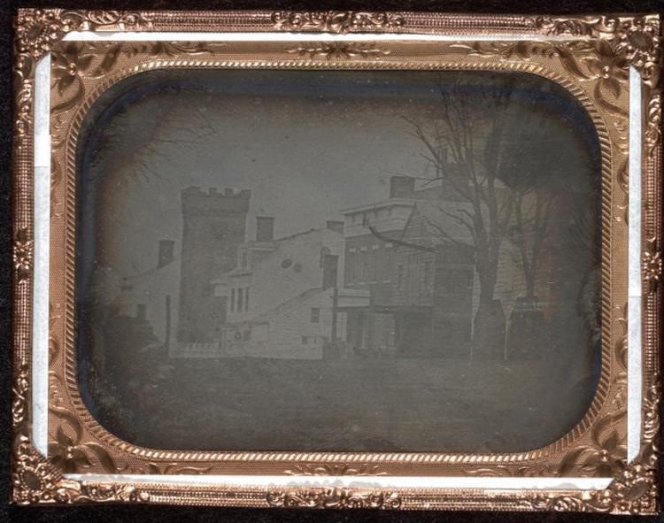 New York, 1840<br />Fotó: Samuel F.B. Morse és John William Draper: Waverly Place, New York, c. 1840