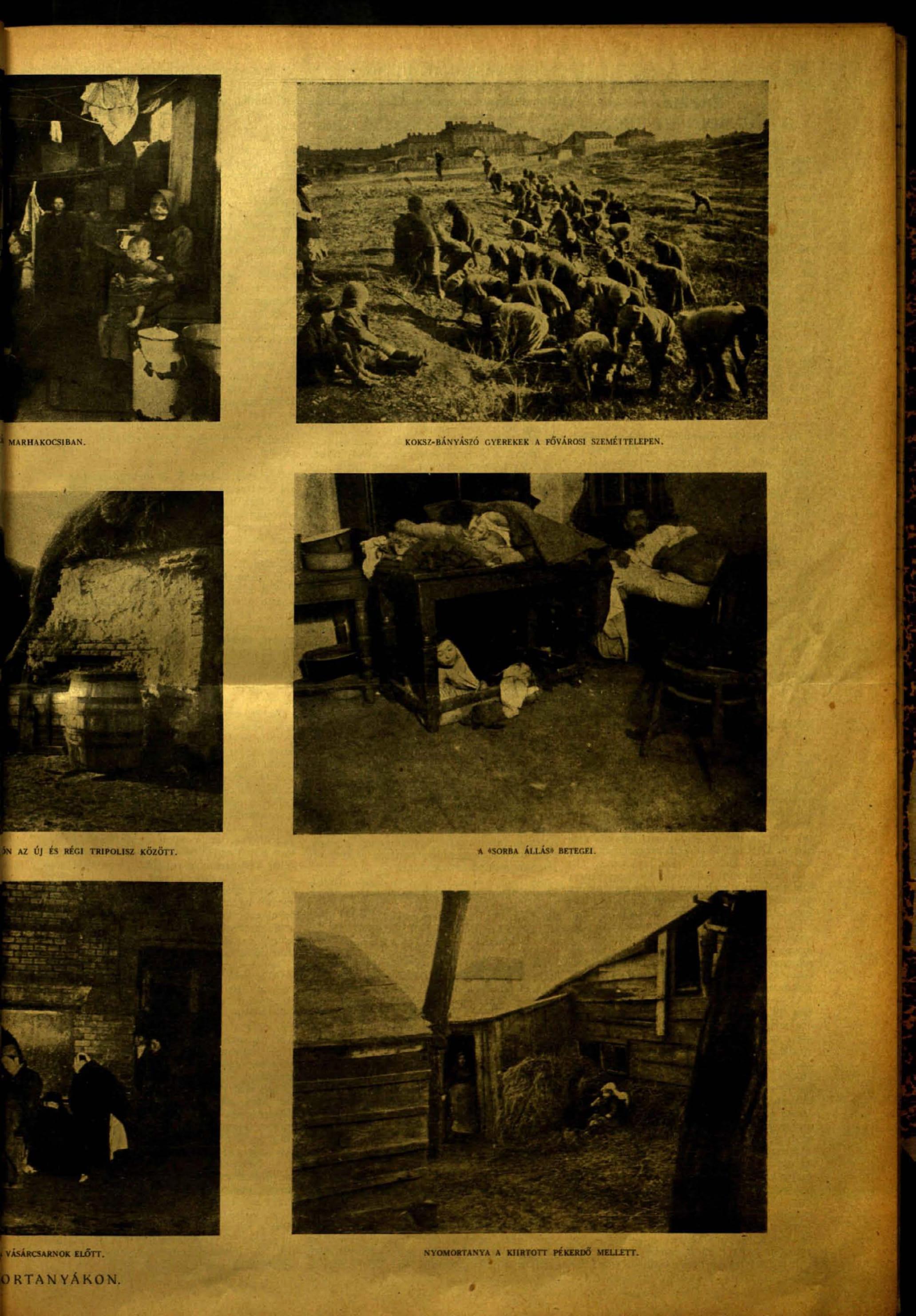 Tábori Kornél: Razzia a nyomortanyákon<br />Vasárnapi Ujság, 3. szám. 1920. 67. évfolyam. 31. oldal<br />adtplus.arcanum.hu