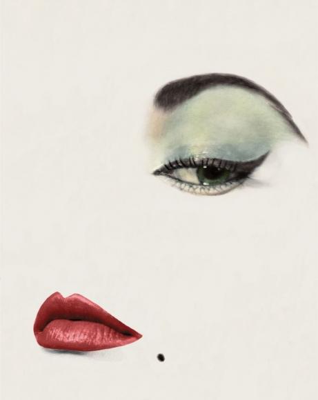 Fotó: Doe Eye Vogue Cover, January 1, 1950, model: Jean Patchett © Erwin Blumenfeld