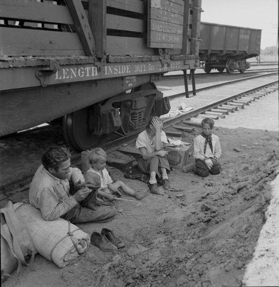 Az eredeti képet Dorothe Lange világhírű fotográfus készítette 1939 augusztusában a Yakima völgyben.