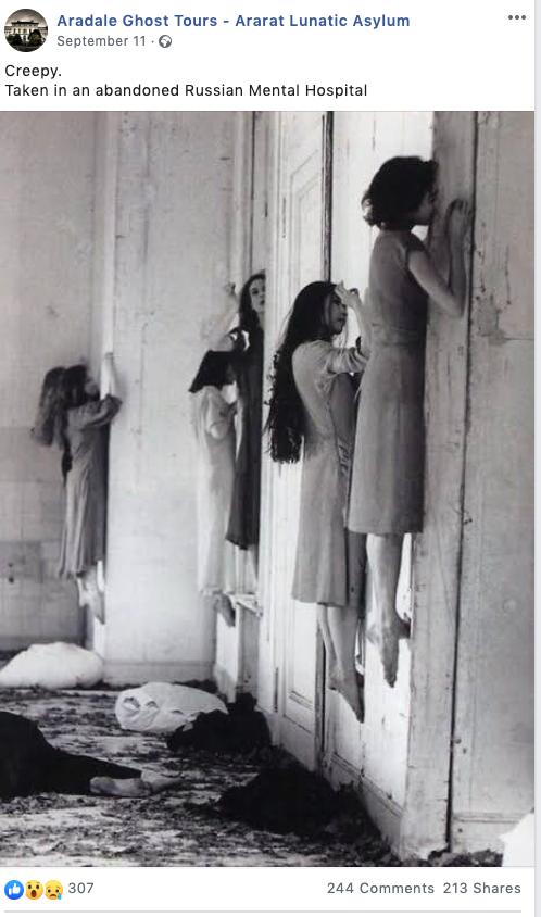 A különös kép pár hónappal ezelőtt több helyen is megjelent azzal a nyilvánvalóan félrevezető képaláírással, hogy a fotón egy orosz pszichiátriai intézetben lévő betegeket láthatunk.