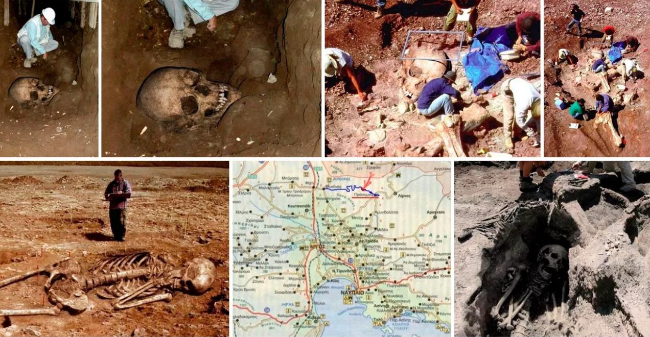 """A képeket bemutató cikkek az óriási testrészek földi maradványait """"Kanaan"""" vagy """"Nephilim"""" csontvázaknak nevezik, és ezek a fotók már 2004 óta járják körbe az internetet kevésbé hiteles oldalait."""