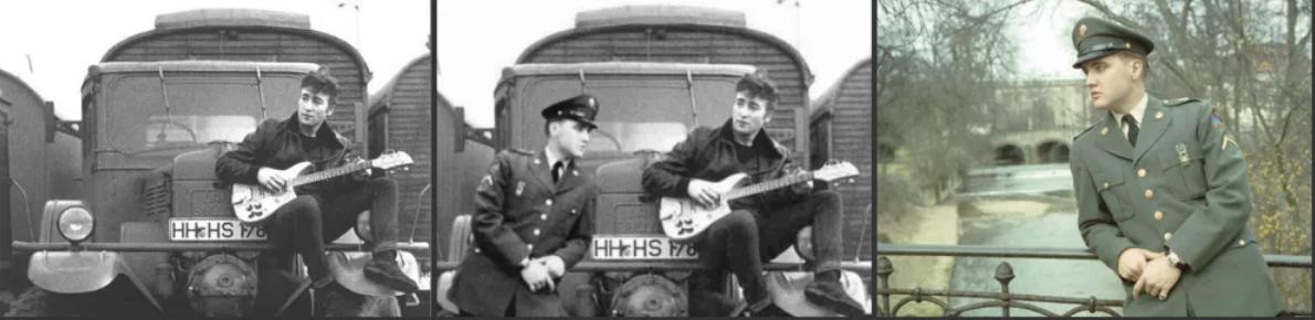 A kép - melyen Elvis látható - valamikor 1958 márciusa és 1960 márciusa között készült.