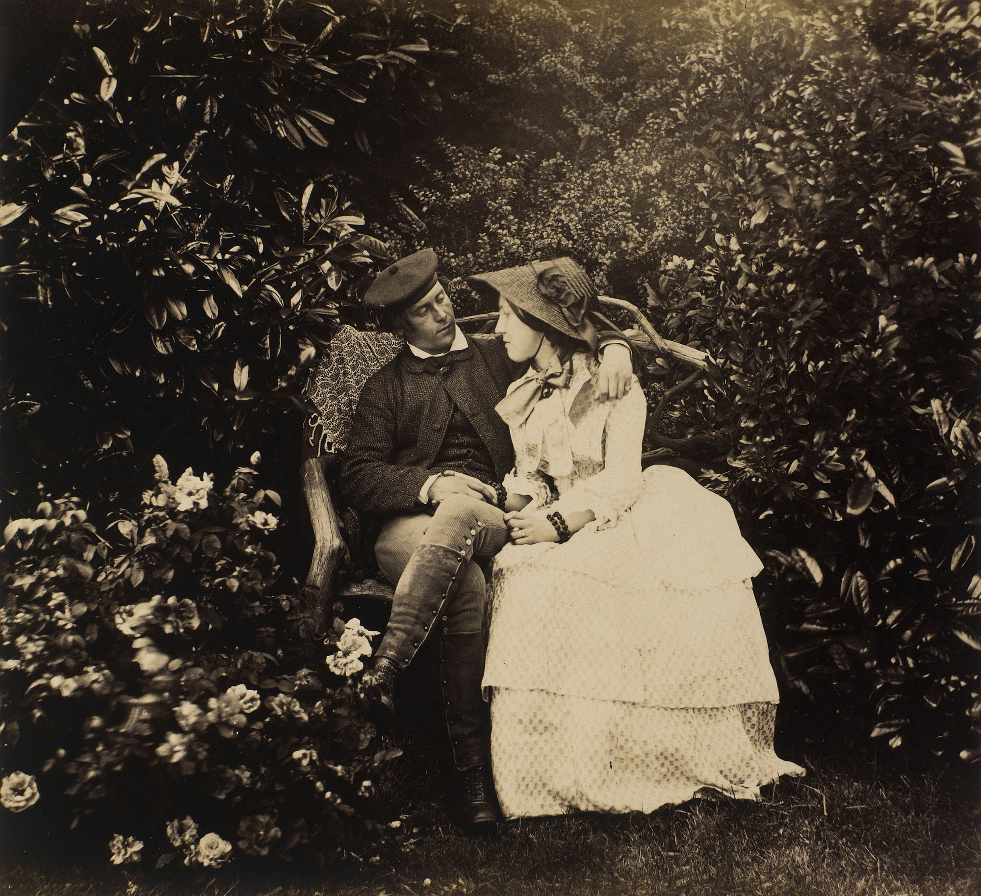 Fotó: Roger Fenton: Mézeshetek. <br />A románc Nr. 4., 1854, albumin, 18.1 x 21.4 cm © Royal Collection Trust © Acquired by Prince Albert