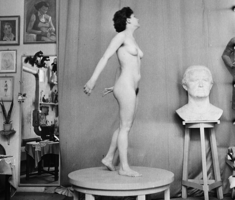 Fotó: Bauer Sándor: 1958. Magyarország Kirchmayer Károly szobrászművész műterme. © fortepan.hu